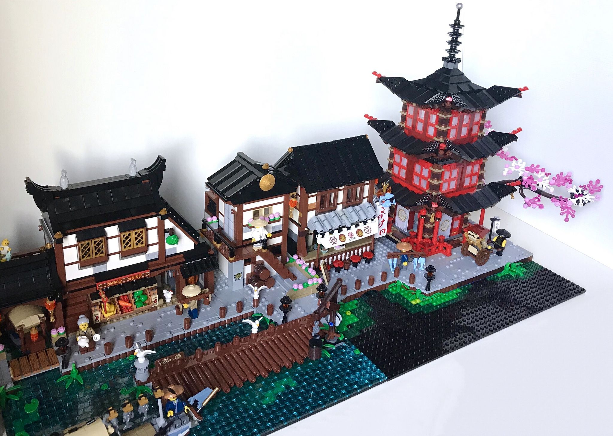 Traditional Japanese Harbour Wip In 2020 Cool Lego Creations Lego Design Lego Factory