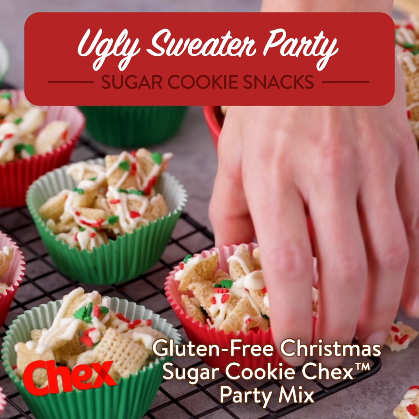 Gluten Free Christmas Sugar Chex Mix | Chex Recipes | Chex.com