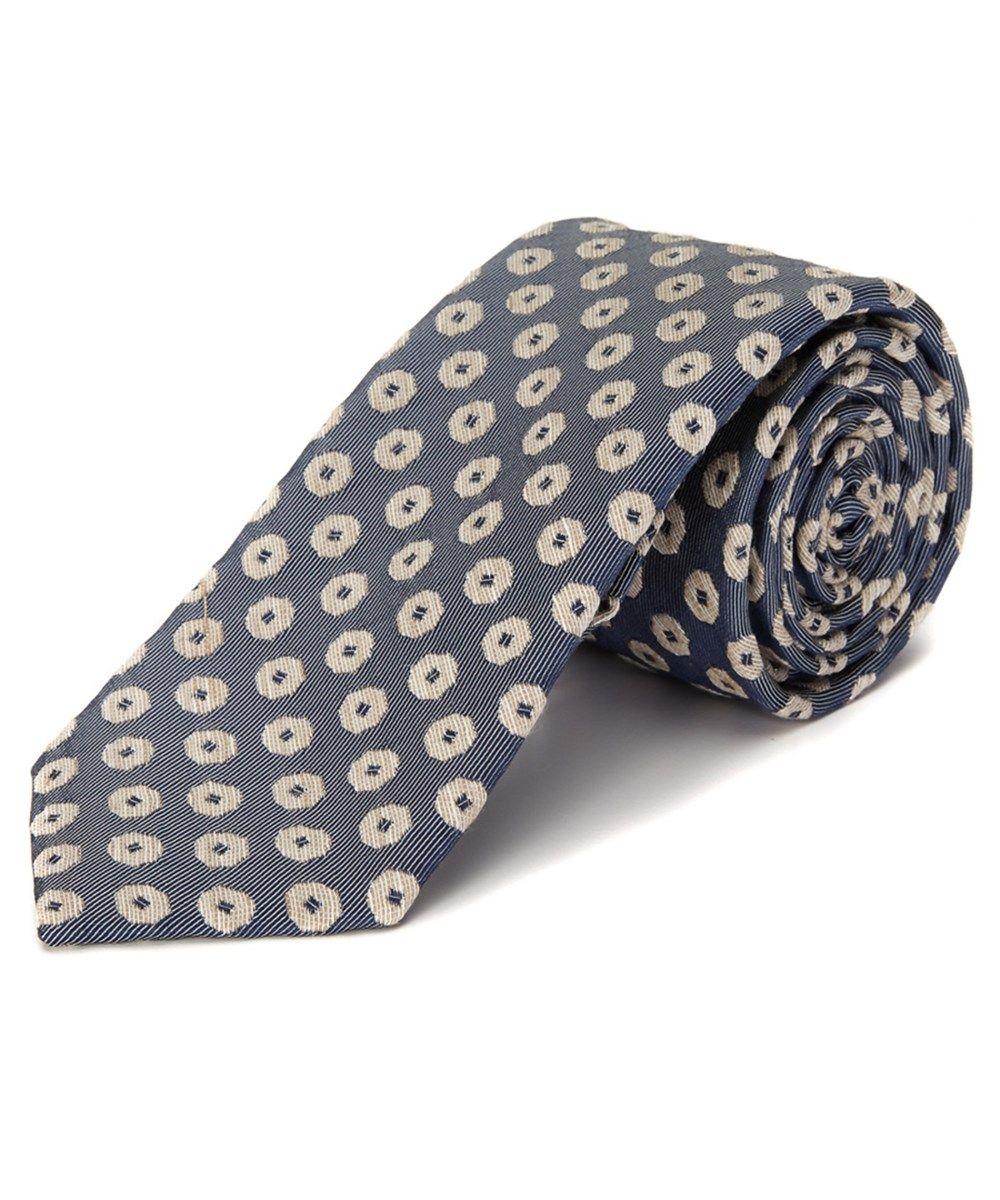 TED BAKER Ted Baker Blue Tanzania Dot Silk &Amp; Linen-Blend Tie'. #tedbaker #ties