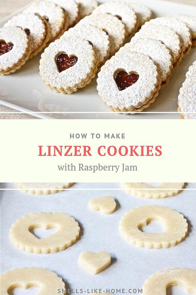 Pecan Linzer Cookies with Raspberry Jame