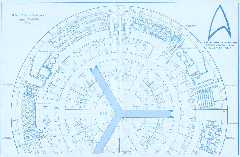 Blueprint Database Star Trek Blueprints Enterprise 15mm FASA Deck ...