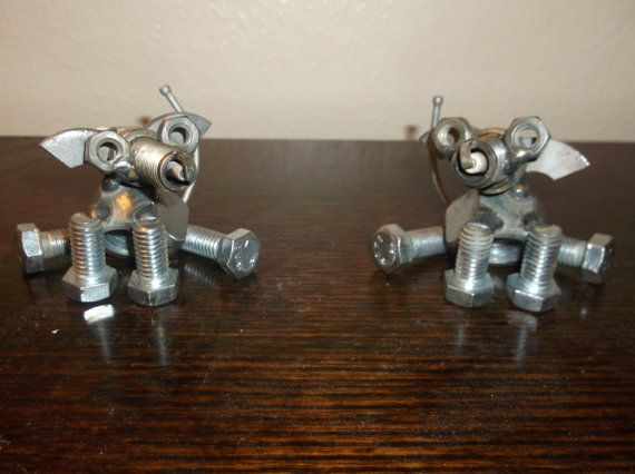 Dog Metal Recycled Art