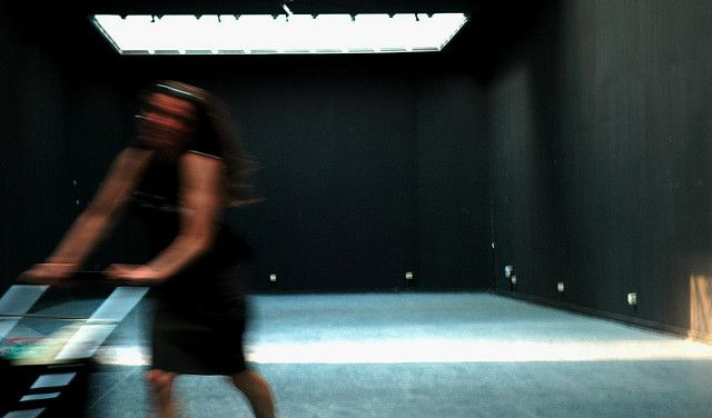 """The Romenian contribution to the biennale left the space empty. Instead of thinking about Europe, Rebecca and Abital did their famous """"Running around in black cube"""" performance.    from the catalogue:    """"The materialization of the work """"European Influen Pretty cool, huh?  Can you GET FIT as fast a a movie star? YES!! There is a new kid on the block for CELEBRITY FITNESS TRAINERS: http://www.Super7System.com  WOW!!!"""