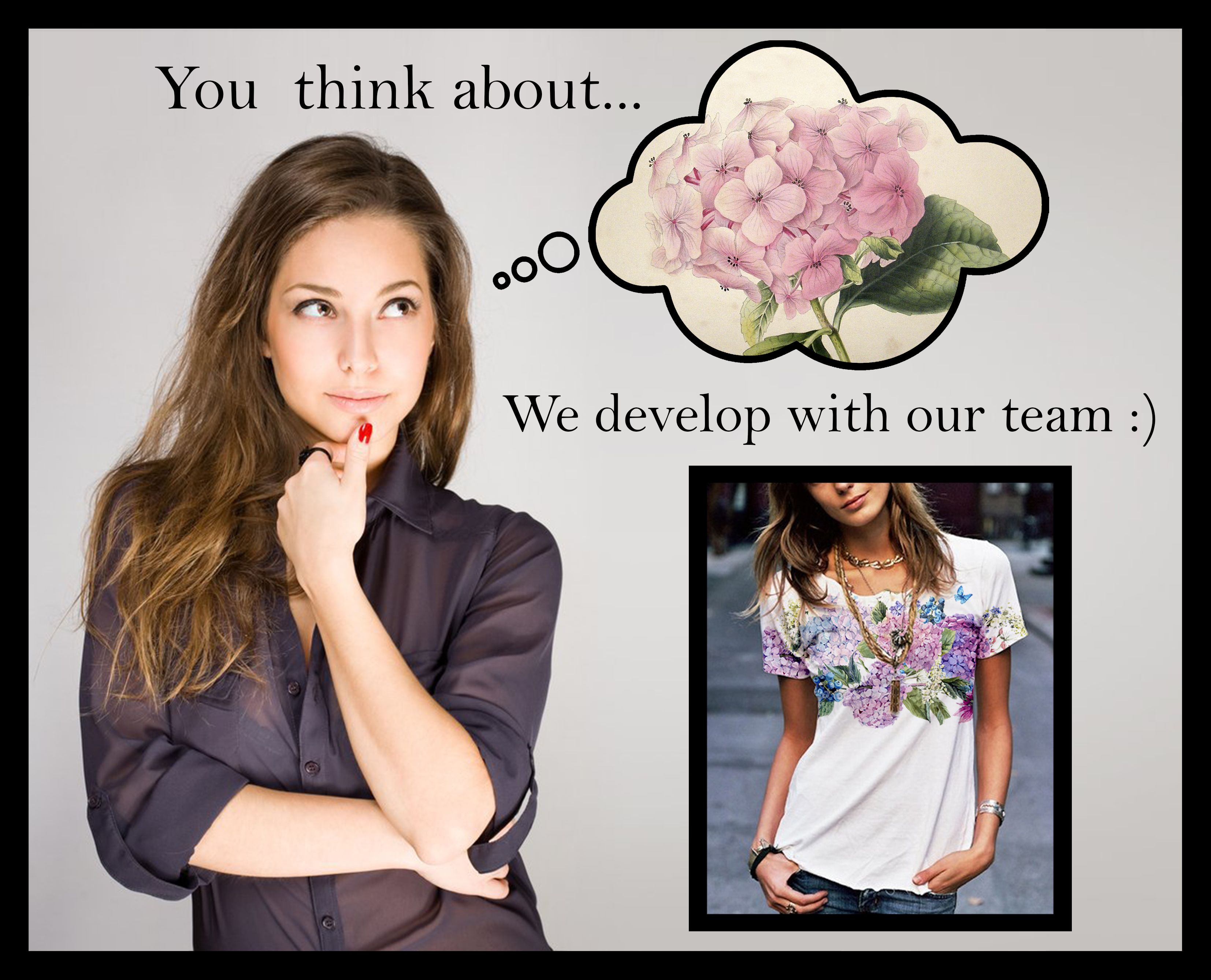 You think about...We develop with our team :)