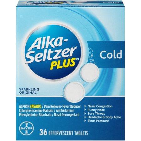 Alka-Seltzer Plus Cold, Sparkling Original Effervescent