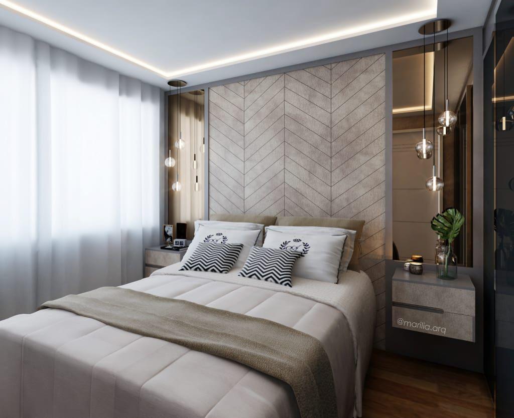 Stili Di Camere Da Letto camera da letto in stile di marilia zimmermann arquitetura e