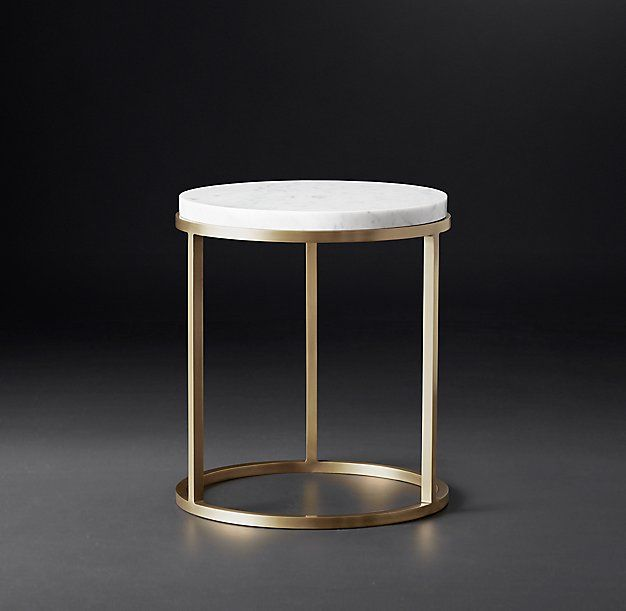 Round White Marble Milan Accent Table By World Market: Nicholas Marble Round Side Table RH MODERN