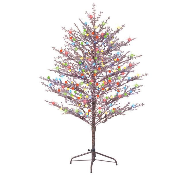 Pre Lit Christmas Branch Tree Indoor Outdoor Artificial Holiday Xmas Decoration Ge Outdoor Christmas Outdoor Christmas Decorations Artificial Christmas Tree