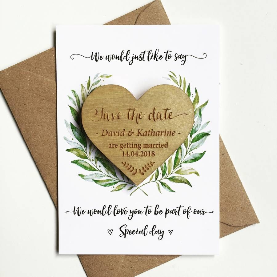 Laurel wooden save the date wedding save the