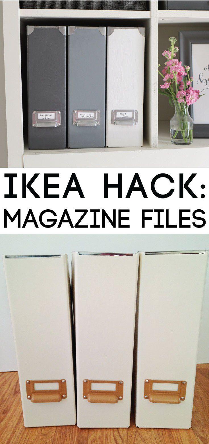 IKEA Hack: Magazine Files | Pinterest | Magazine files, Organizing ...