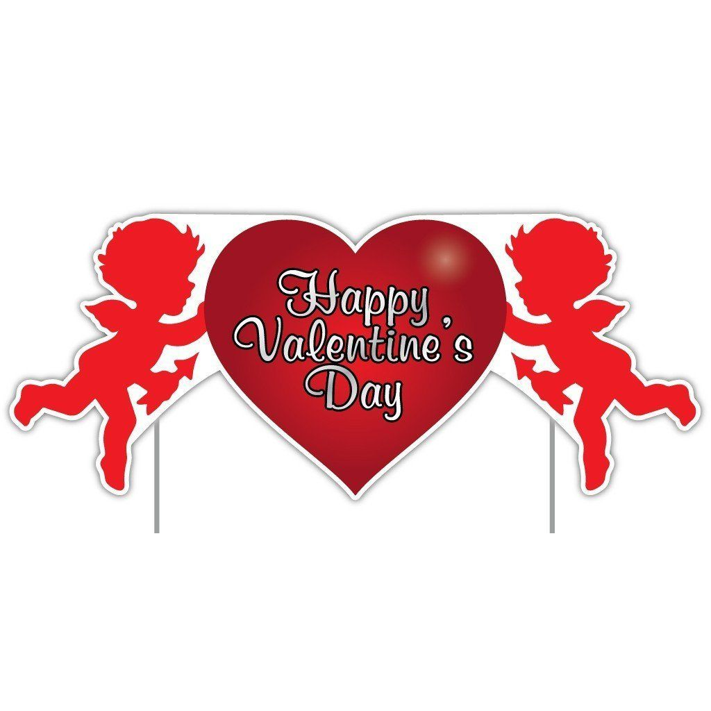 Valentine S Lawn Decoration Happy Valentine S Day Cupid 2 X 4