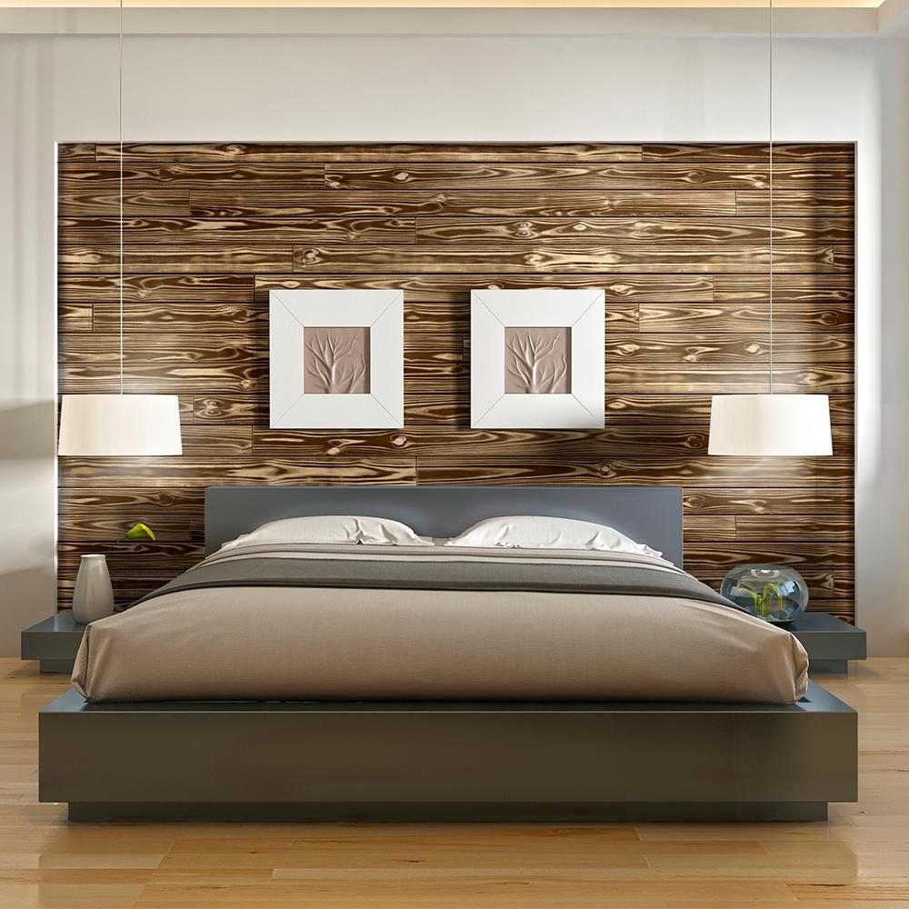 Ufp Edge 1 In X 6 In X 8 Ft Charred Wood Shiplap Pine Board 4 Pack 291254 The Home Depot In 2020 Wood Walls Bedroom Master Bedroom Wood Wall Master Bedroom Accent Wall Ideas