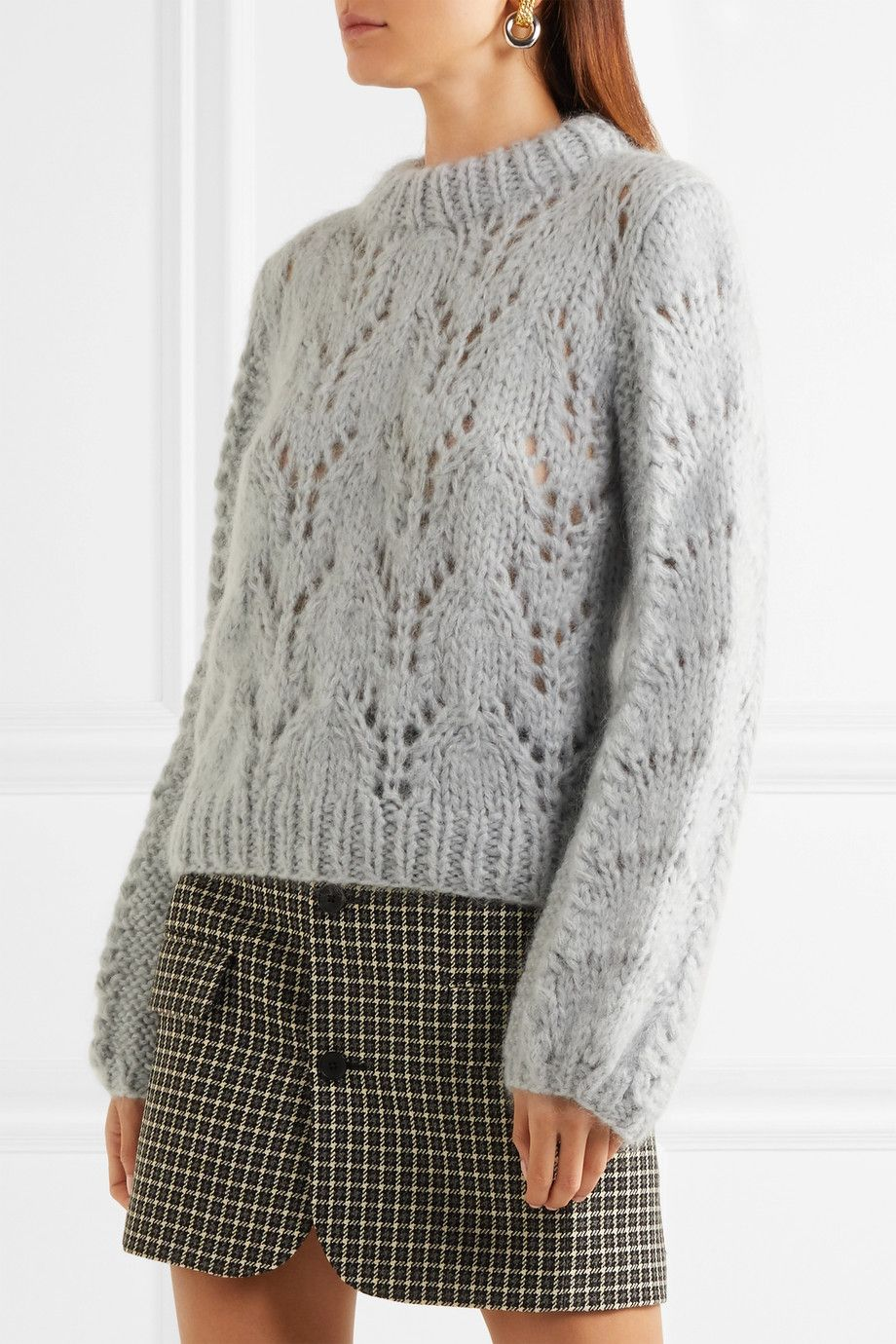 GANNI   Faucher mohair and wool-blend sweater   NET-A-PORTER.COM ... b3a5c578af
