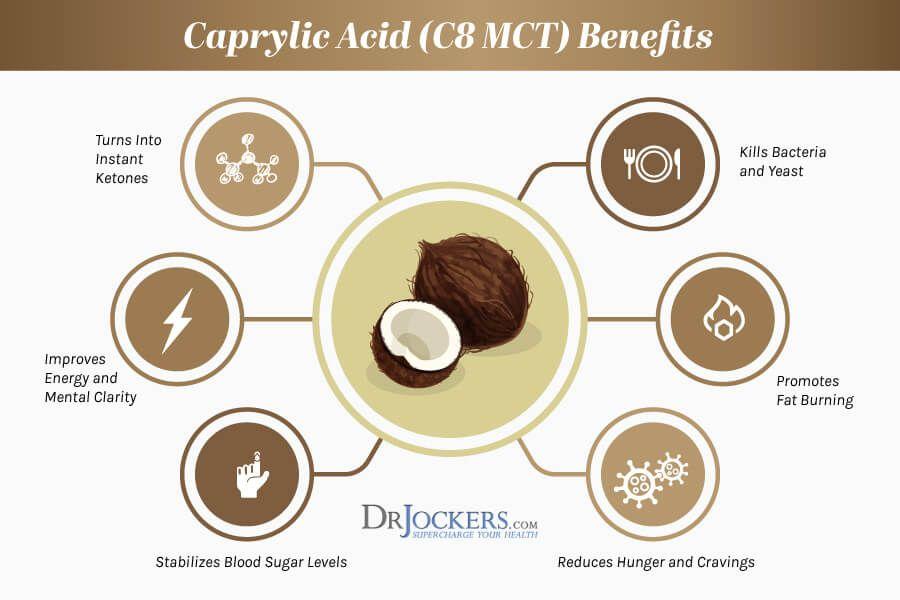 11+ Caprylic Acid C8 MCT Powerful Gut Health and Keto Benefits