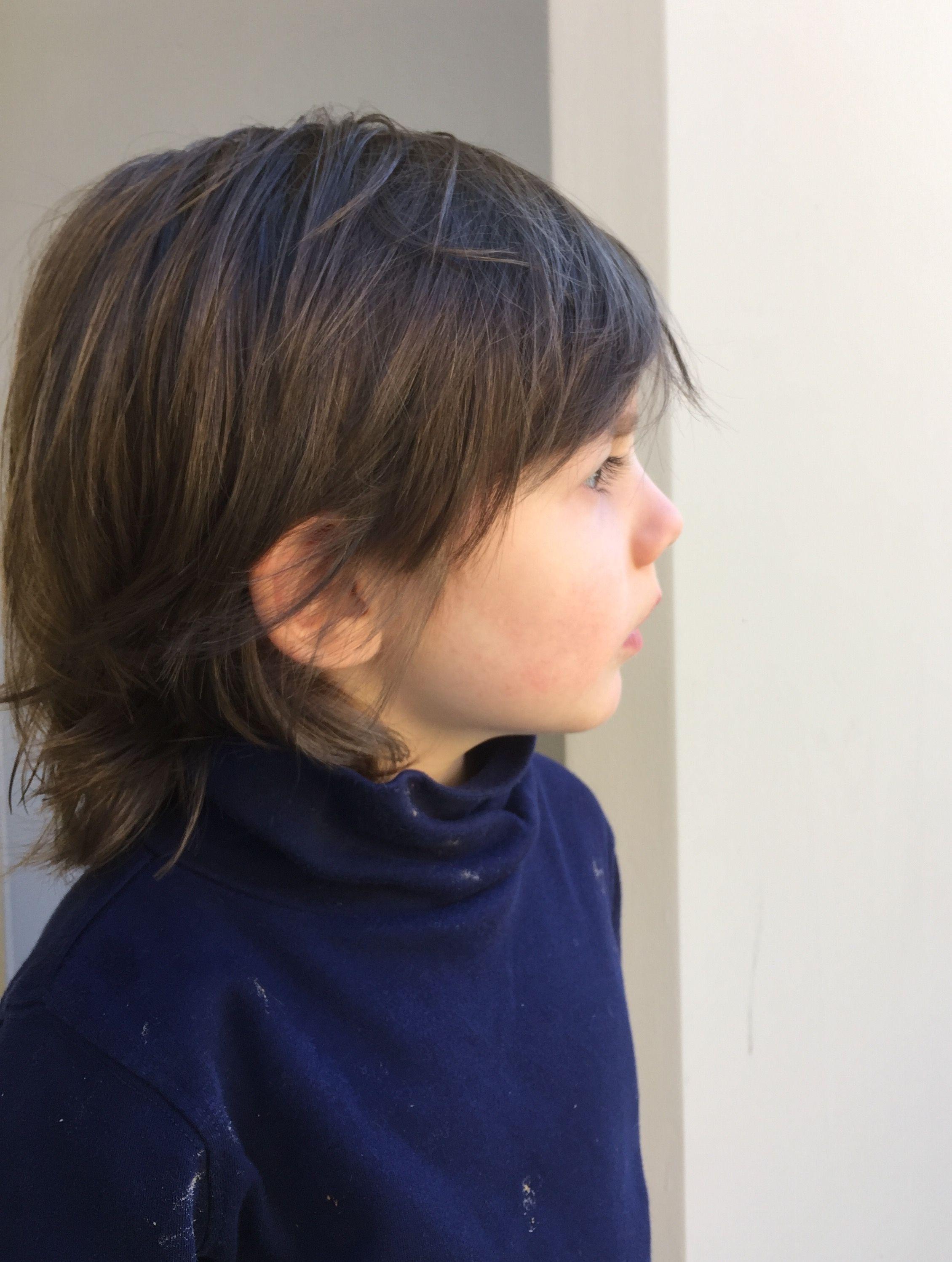 Long Layered Little Boy Haircut Boys Long Hairstyles Boy Haircuts Long Haircuts Straight Hair