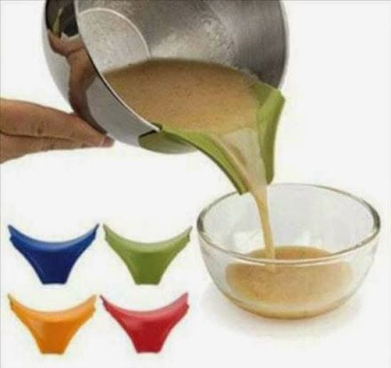 Innovative product: Silicone slip-on Spout to pour coffee
