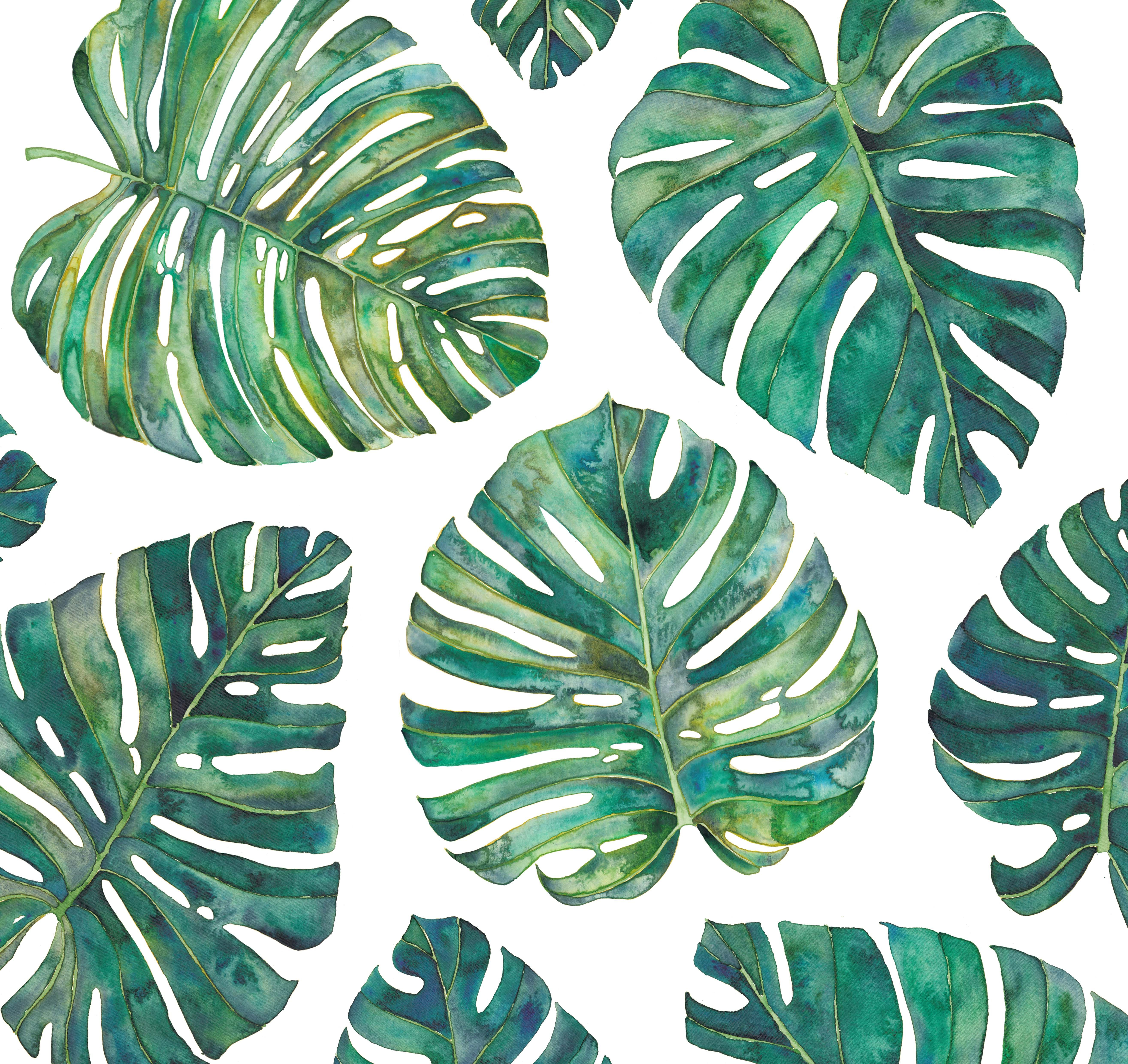 Temporary Fabric Wallpaper Tropical Leaves Fabric By The Yard Fabric Cotton Fabric