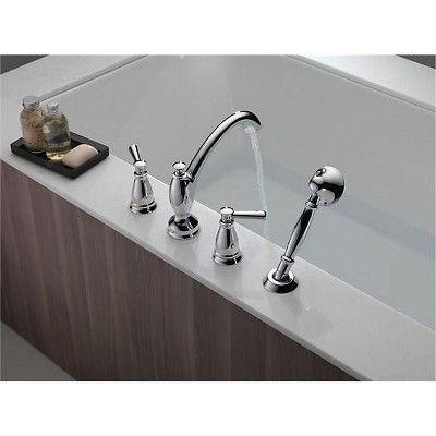 Delta Faucet T4793 Linden Roman Tub Filler Faucet Trim With Hand