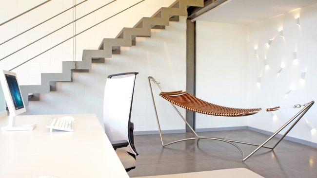 Designer Hängematte mit Metallgestell – Urlaubsfeeling für Zuhause ...