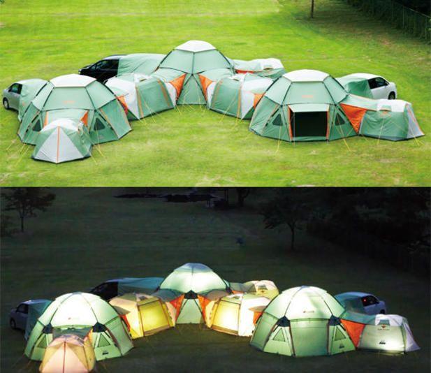 Modular Decagon Tents @Luuux #Design