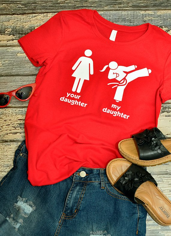 5732be76 Taekwondo Mom, Martial Arts, Karate Girl T-Shirt - Taekwondo Dad, Sister,  Boyfriend, Daughter Shirt