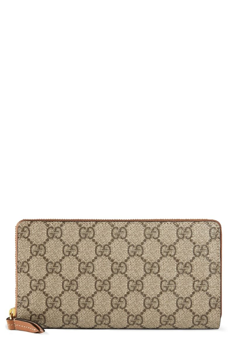 2f67be5ab8c5 Free shipping and returns on Gucci GG Supreme Zip Around Canvas Wallet at  Nordstrom.com. <p>A streamlined zip wallet made from GG Supreme canvas  opens to ...