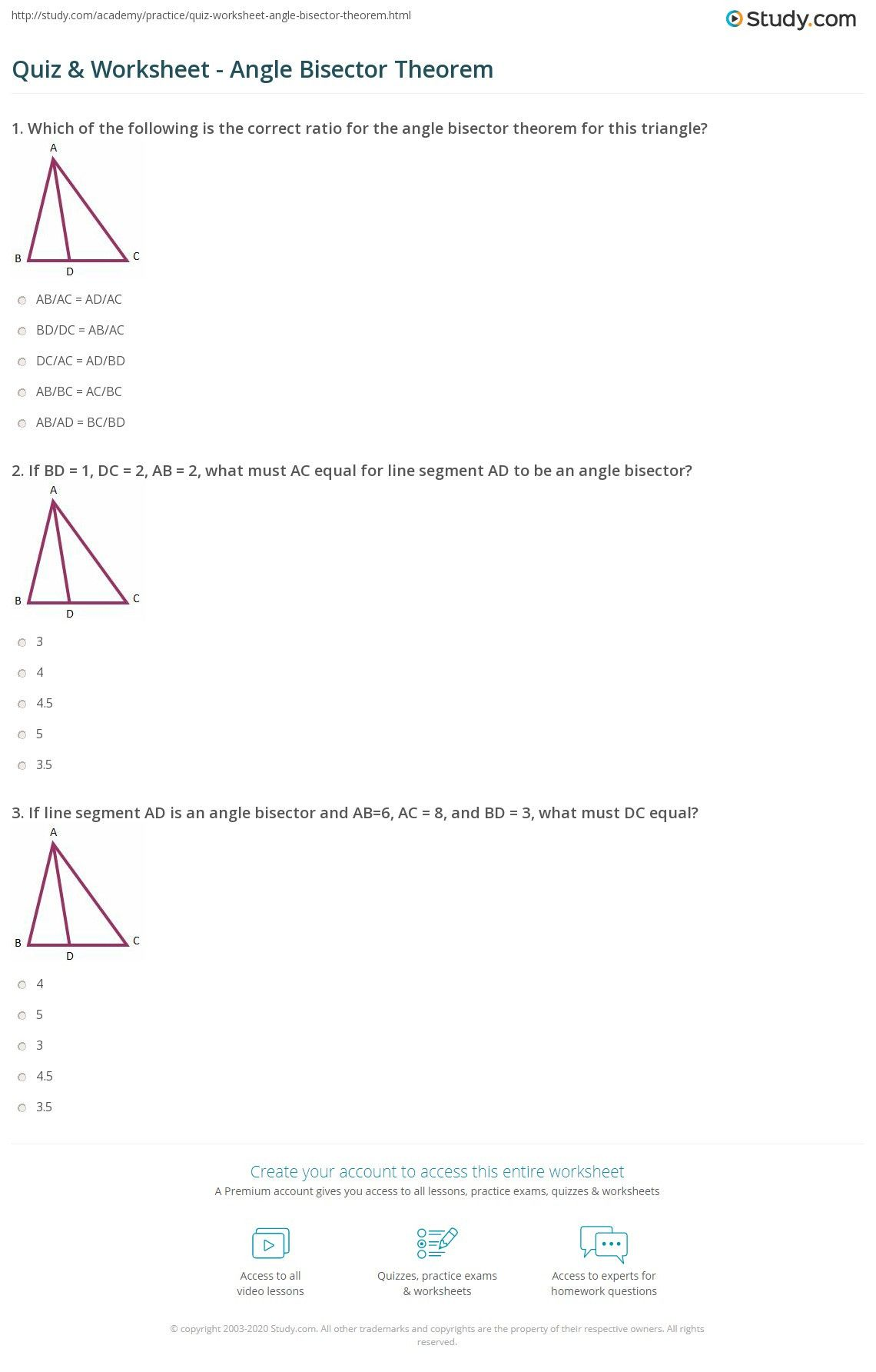 small resolution of Algebra Angle Worksheet   Printable Worksheets and Activities for Teachers