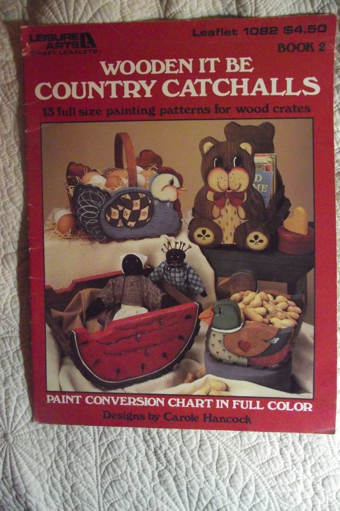 Wooden It Be Country Catchalls By Carole Hancock Tole Paint Folk Art