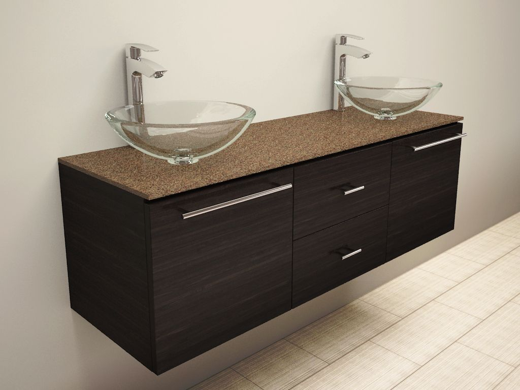 I Love This Example Of A Floating Vanity Floating Bathroom Vanities Bathroom Vanity Bathroom Vanity Tops [ 768 x 1024 Pixel ]