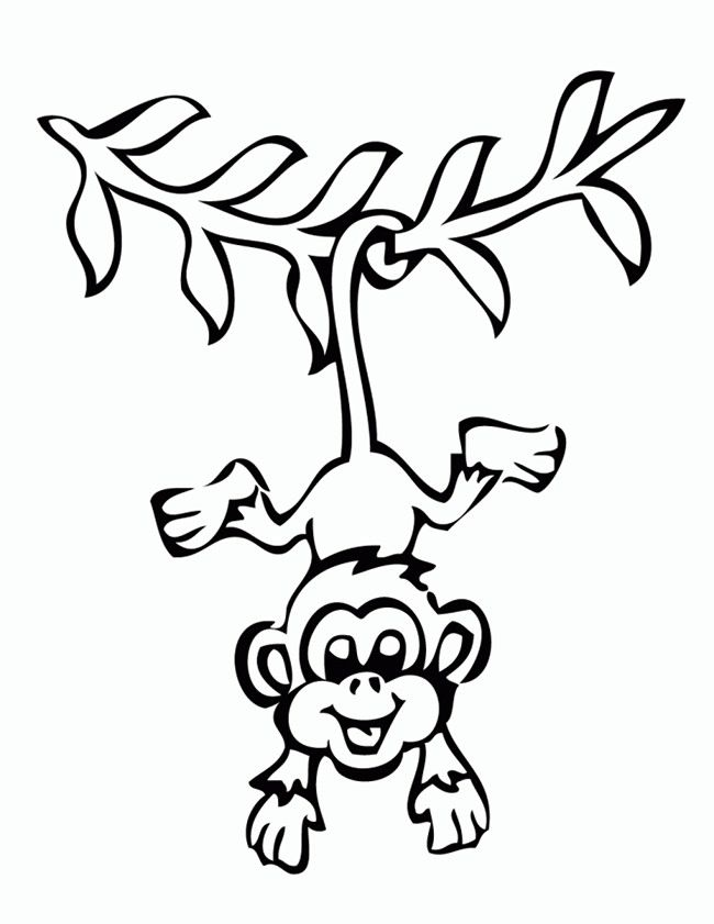 50 Monkey Shape Templates Crafts Colouring Pages Monkey