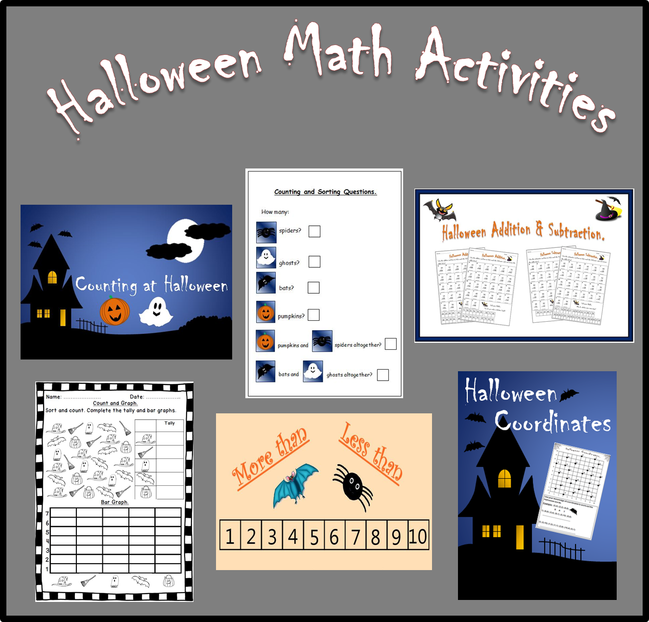 A Variety Of Halloween Math Activities