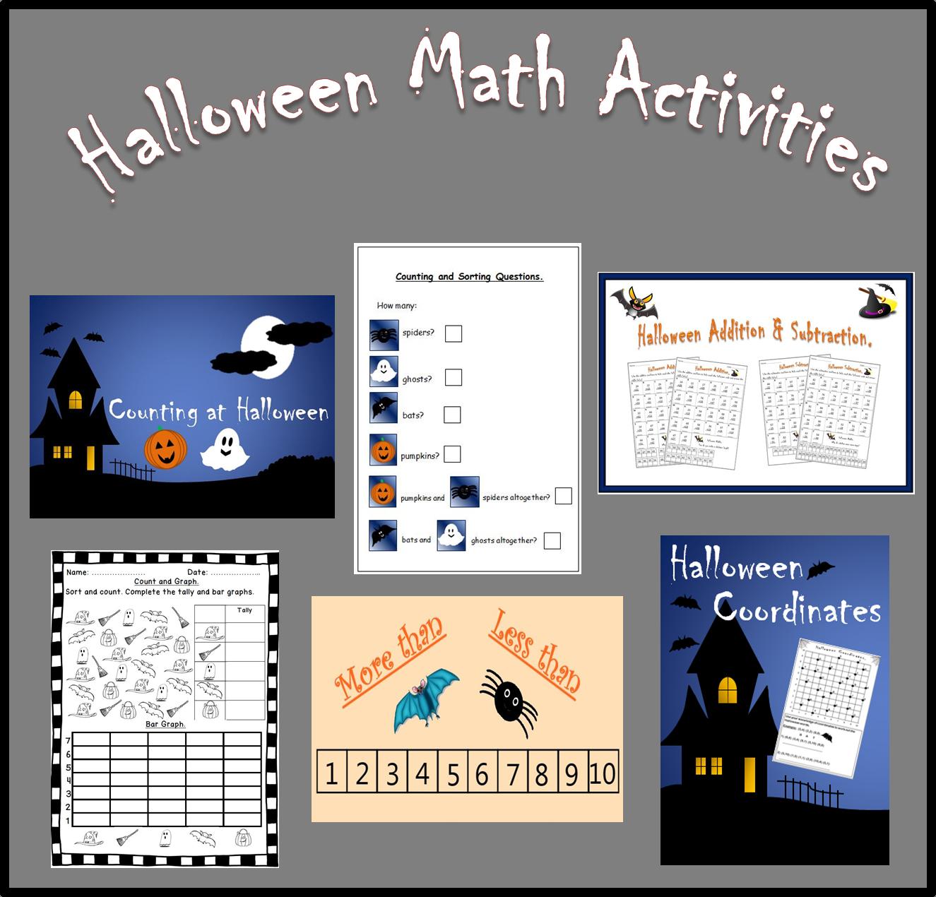 A Variety Of Halloween Math Activities