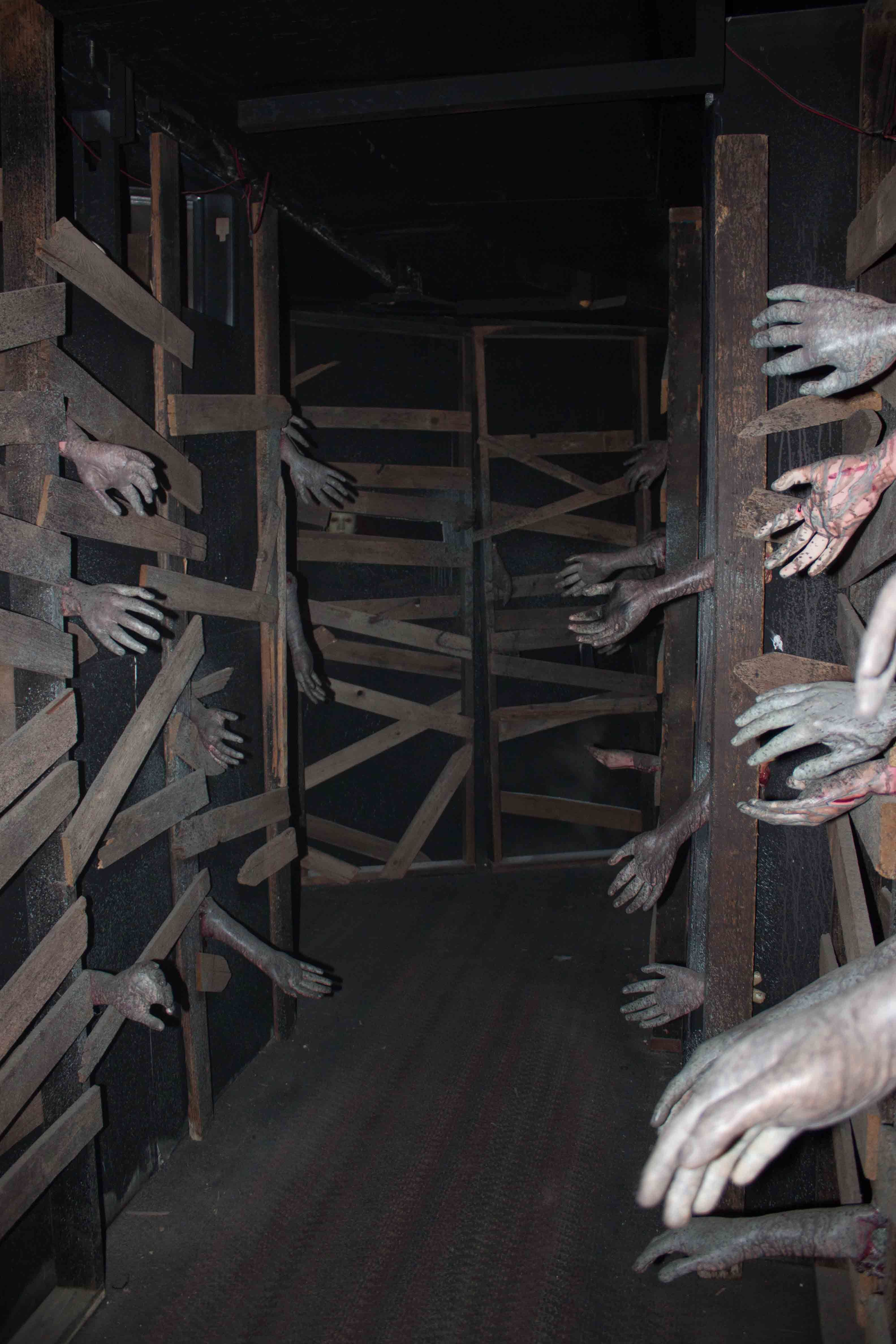great idea for haunted house Halloween Pinterest False wall - halloween house decoration ideas