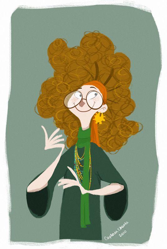 Prof Trelawney Art Harry Potter Art Artwork