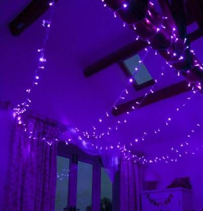 26+ ideas room decor tumblr grunge fairy lights -   16 room decor Purple blue ideas