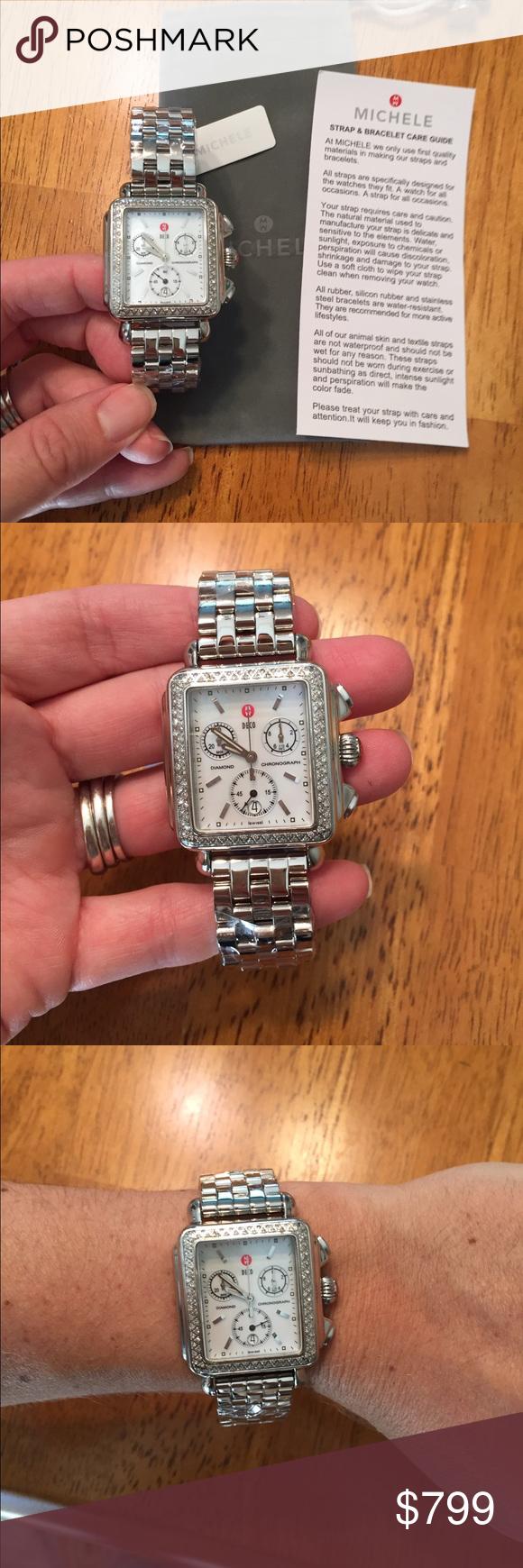 Michele diamond deco watch diamond conditioning and bracelets