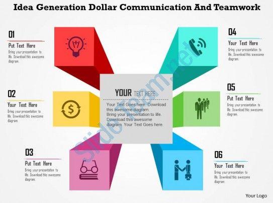 Idea Generation Dollar Communication And Teamwork Flat Powerpoint