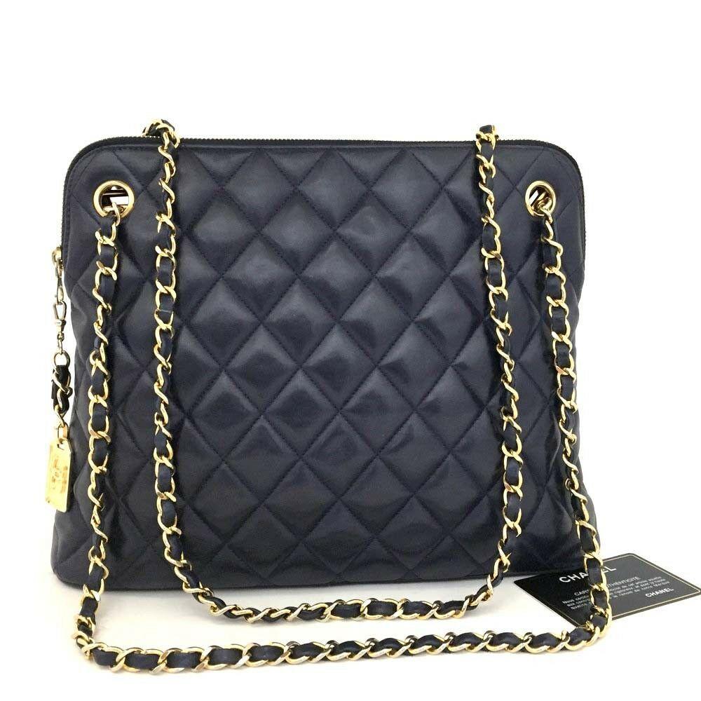 7fa692b371e7 CHANEL Quilted Matelasse CC Logo Lambskin Chain Shoulder Bag Navy Blue /  nHXI x #fashion #clothing #shoes #accessories #womensbagshandbags (ebay  link)