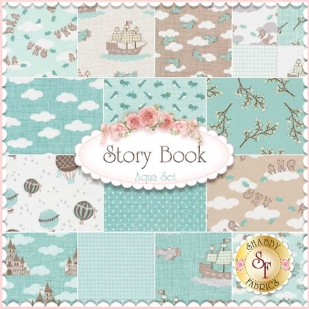 So sweet! ~ Story Book 14 FQ Set - Aqua By Kate & Birdie for Moda Fabrics