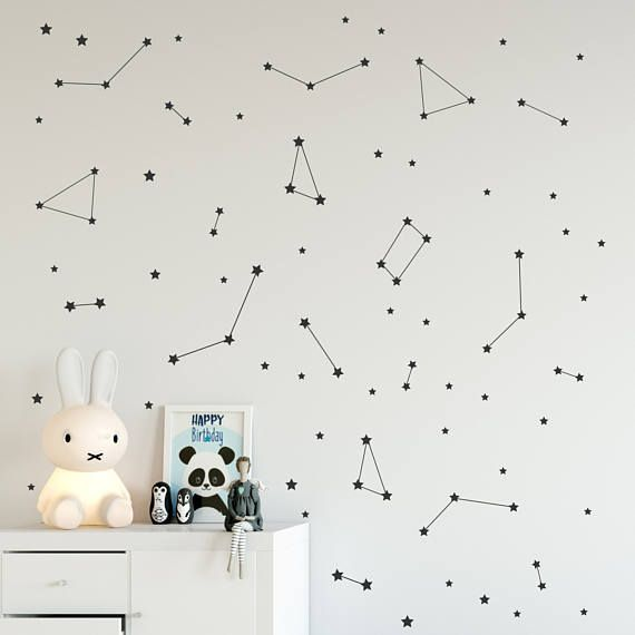 Star Constellation Wall Decals Zodiac Astrology Vinyl Wall - Vinyl decals for textured walls