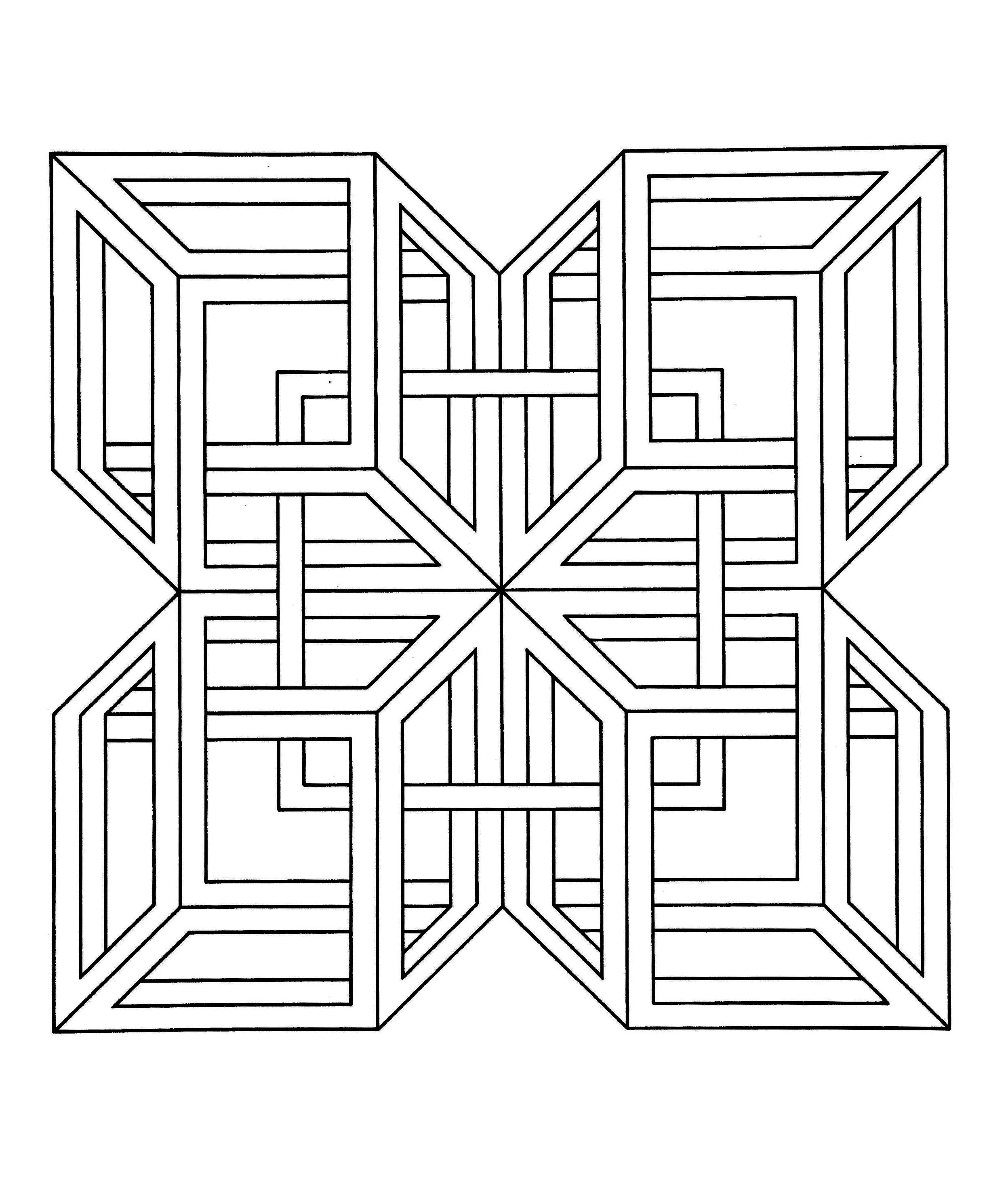 vasarely coloring pages - photo#32