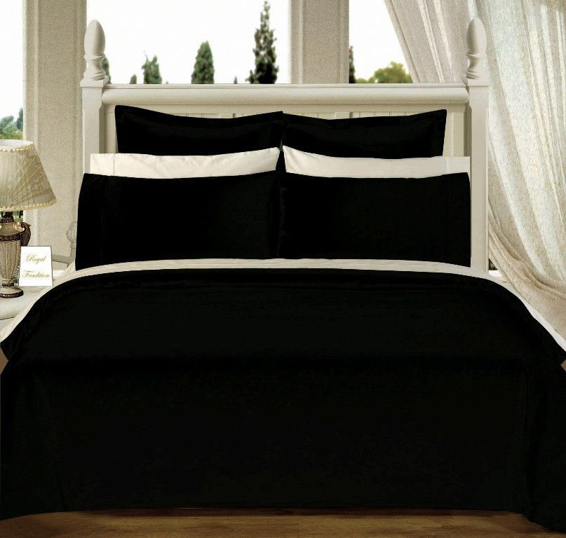 Black 550tc Olympic Queen Solid Bed In A Bag Wrap Yourself In The