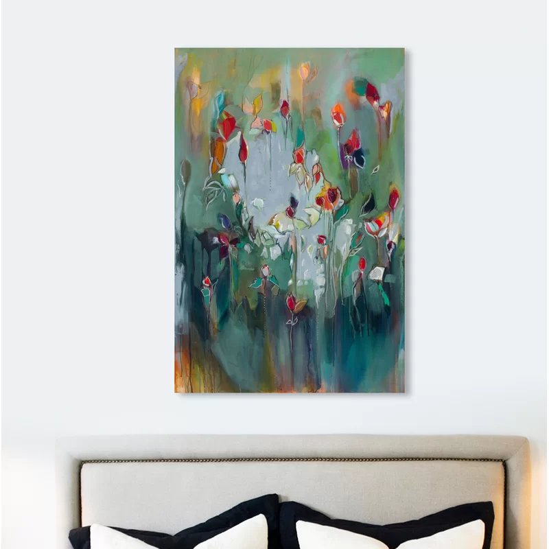 Abstract Michaela Nesim Pale Blue Influence 2 Paint Wrapped Canvas Graphic Art Print Graphic Art Print Painting Canvas Prints
