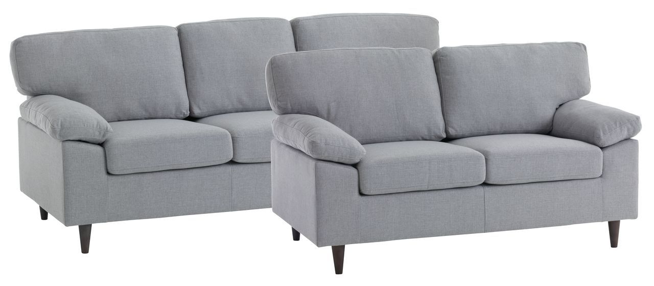 Sofa Suite Gedved 2 Pieces Light Grey Jysk Corfe Home Sofa