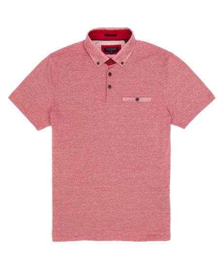 4b588f90a75d3f Patterned collar polo - Red