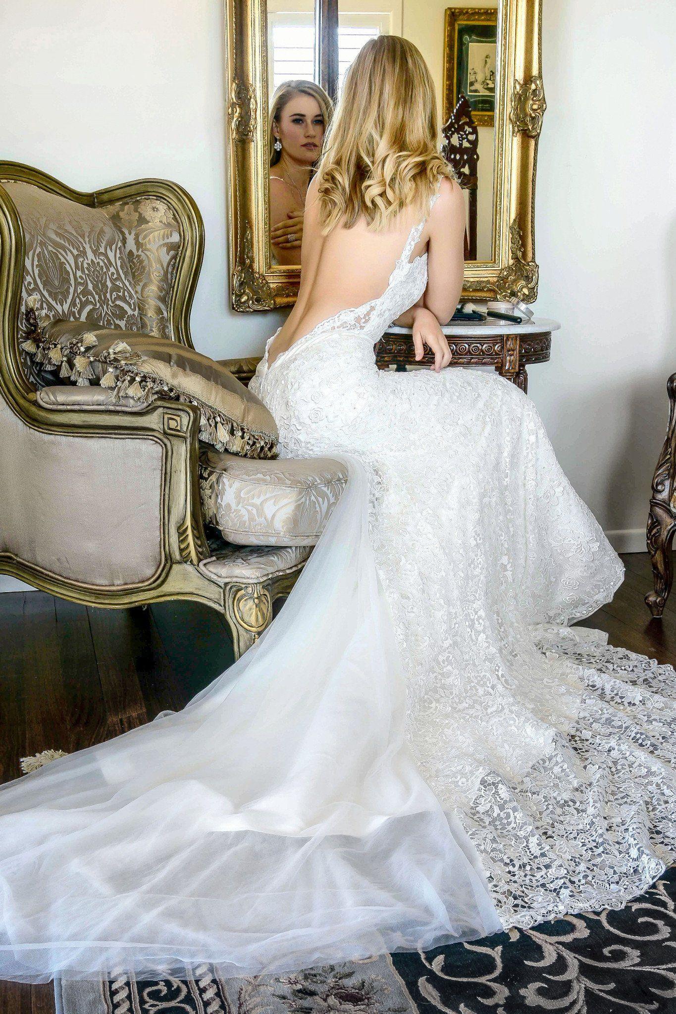 Tahia - low back lace wedding dress Gold Coast | The GC bridal ...