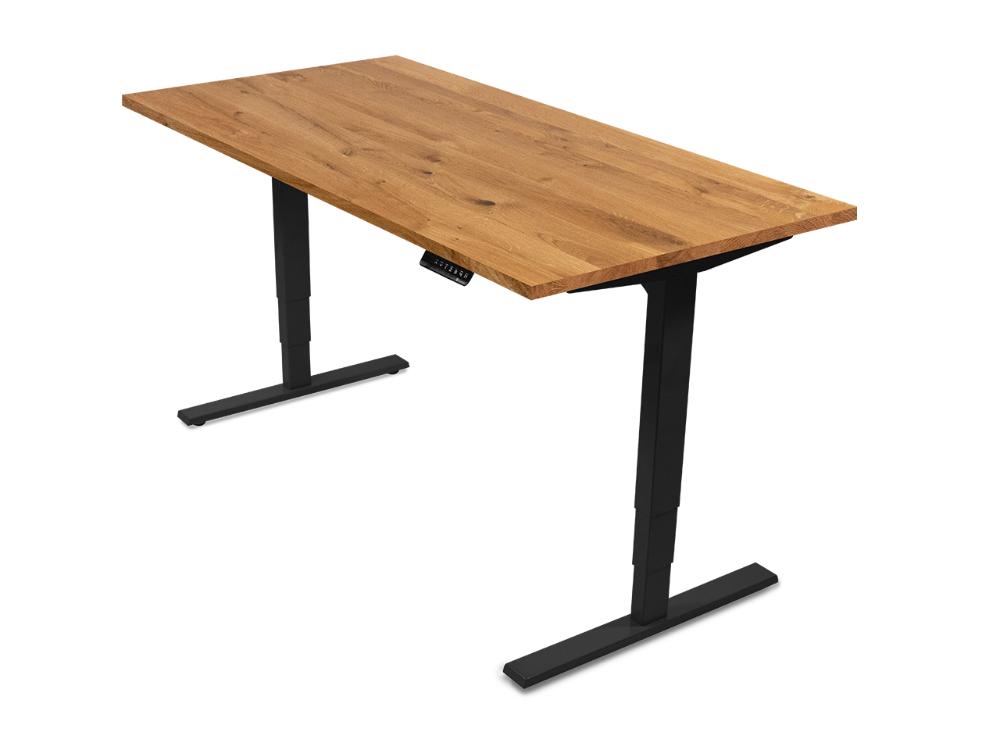 Hohenverstellbarer Schreibtisch Desktopia Pro Ergotopia Hohenverstellbarer Schreibtisch Schreibtisch Schreibtisch Eiche