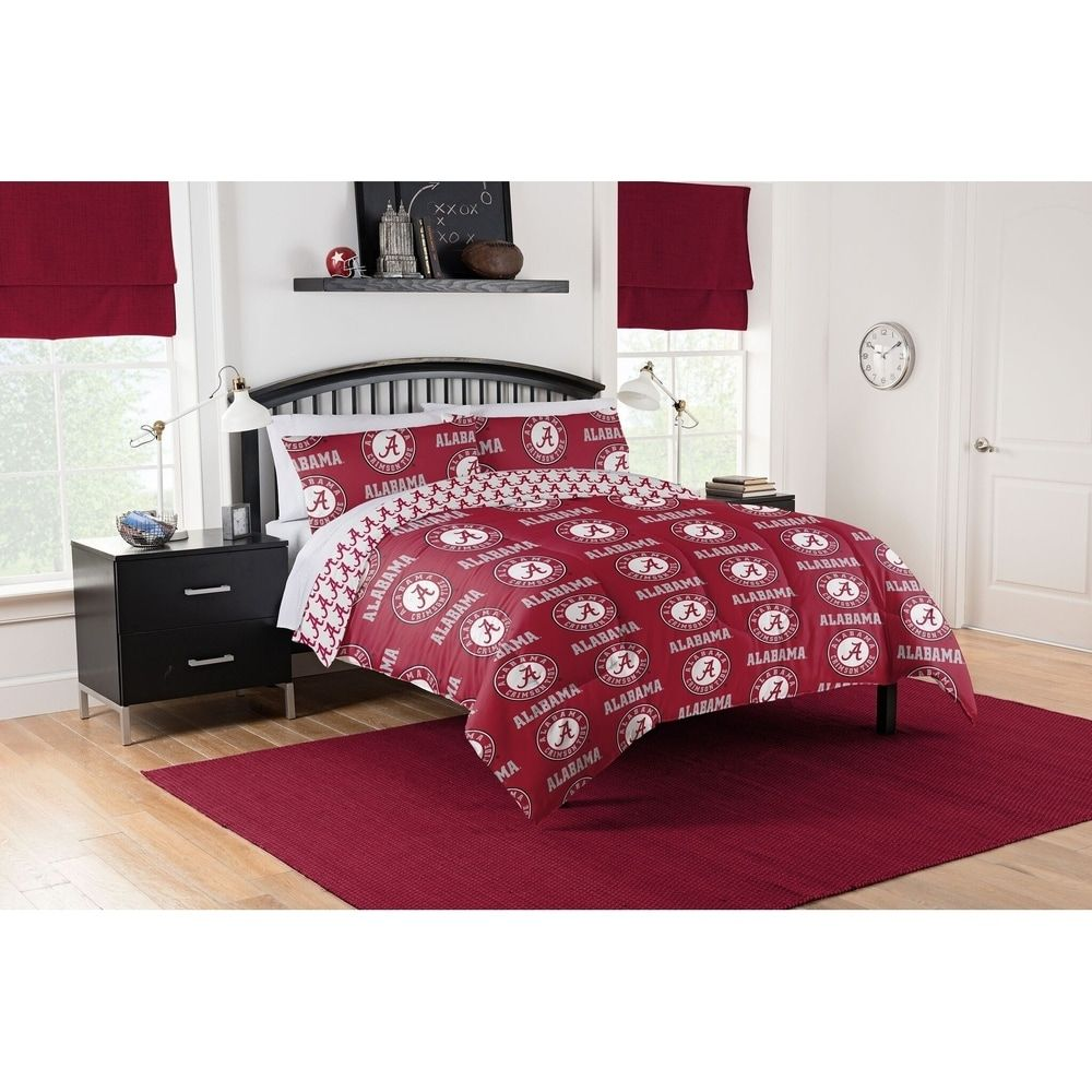 Col 875 Alabama Crimson Tide Queen Bed In A Bag Set Red In 2020
