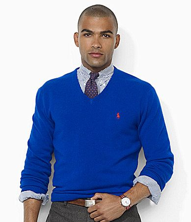 Polo Ralph Lauren LongSleeved Wool VNeck Sweater