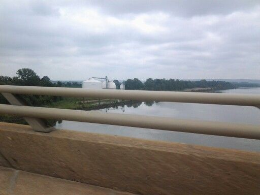 Ontop of Arkansas River bridge